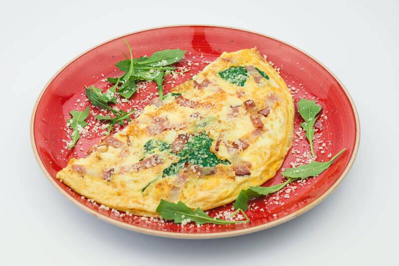 Fit omlet sa spanaćem
